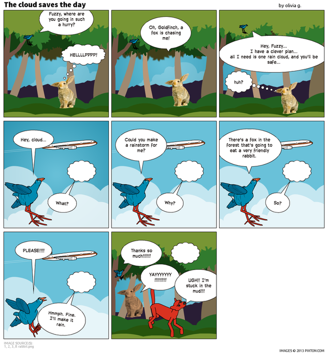 4th Grade Pixton Folktale Comic Strips E C A